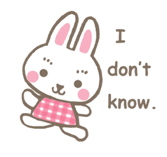 Pinky of rabbit 2 (English) sticker #7216845