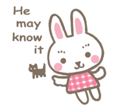 Pinky of rabbit 2 (English) sticker #7216846