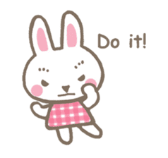Pinky of rabbit 2 (English) sticker #7216853