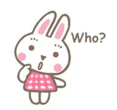 Pinky of rabbit 2 (English) sticker #7216856