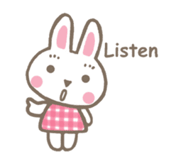 Pinky of rabbit 2 (English) sticker #7216863
