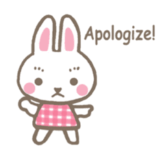 Pinky of rabbit 2 (English) sticker #7216867