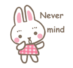 Pinky of rabbit 2 (English) sticker #7216869