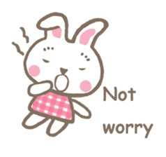 Pinky of rabbit 2 (English) sticker #7216870