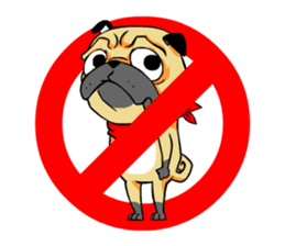 Puk the Pug sticker #7235860