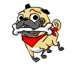 Puk the Pug sticker #7235863