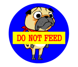 Puk the Pug sticker #7235865