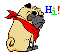 Puk the Pug sticker #7235866
