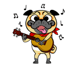 Puk the Pug sticker #7235871