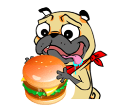 Puk the Pug sticker #7235873
