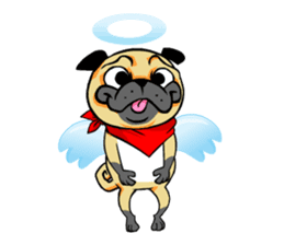Puk the Pug sticker #7235875