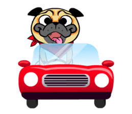 Puk the Pug sticker #7235881