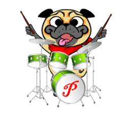 Puk the Pug sticker #7235885