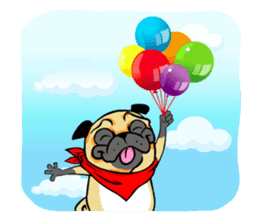 Puk the Pug sticker #7235886