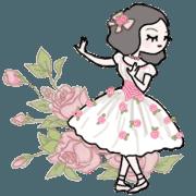 สติ๊กเกอร์ไลน์ Ballet dancer Romantic Animation
