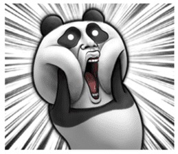 Cute panda!! sticker #7240735