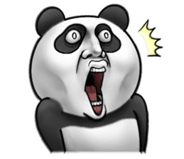 Cute panda!! sticker #7240736