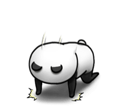 Cute panda!! sticker #7240745