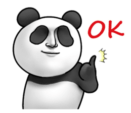 Cute panda!! sticker #7240752