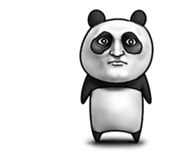 Cute panda!! sticker #7240760