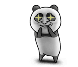 Cute panda!! sticker #7240761