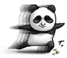 Cute panda!! sticker #7240762