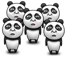 Cute panda!! sticker #7240767