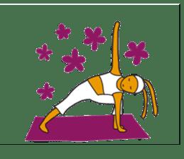Yoga rocks sticker #7252505