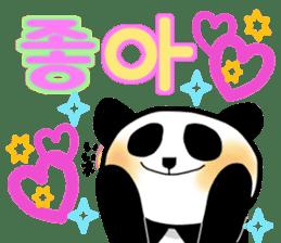Panda and Korean sticker #7261658