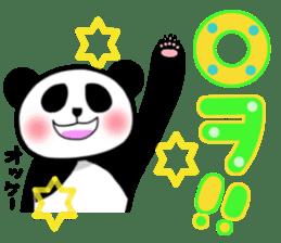Panda and Korean sticker #7261660