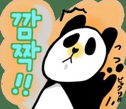 Panda and Korean sticker #7261666