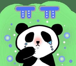 Panda and Korean sticker #7261692