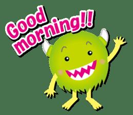 Little monster Morris (English) sticker #7266698
