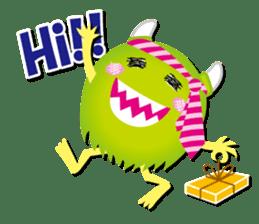 Little monster Morris (English) sticker #7266702