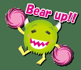 Little monster Morris (English) sticker #7266705