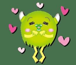 Little monster Morris (English) sticker #7266706
