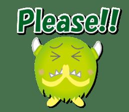 Little monster Morris (English) sticker #7266710
