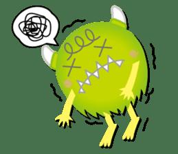 Little monster Morris (English) sticker #7266714