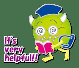 Little monster Morris (English) sticker #7266720