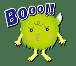 Little monster Morris (English) sticker #7266724