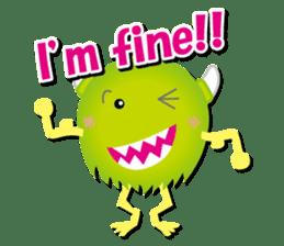 Little monster Morris (English) sticker #7266725