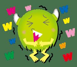 Little monster Morris (English) sticker #7266726