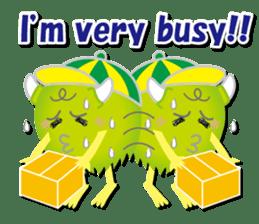 Little monster Morris (English) sticker #7266733