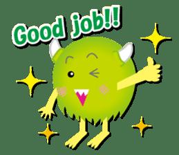Little monster Morris (English) sticker #7266734