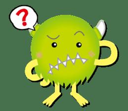 Little monster Morris (English) sticker #7266735