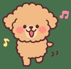 fluffy toy poodle 3set sticker #7274416