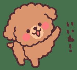 fluffy toy poodle 3set sticker #7274417