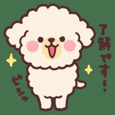 fluffy toy poodle 3set sticker #7274418