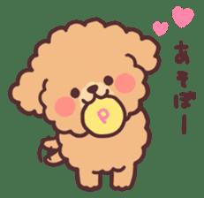 fluffy toy poodle 3set sticker #7274419