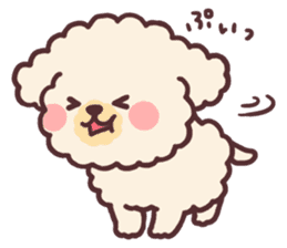 fluffy toy poodle 3set sticker #7274421